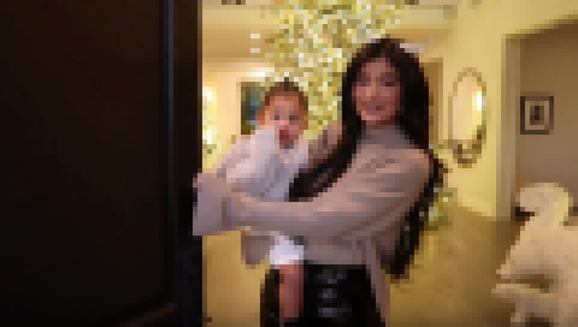 Stormi Webster and Kylie Jenner Give Christmas Themed Tour of Home