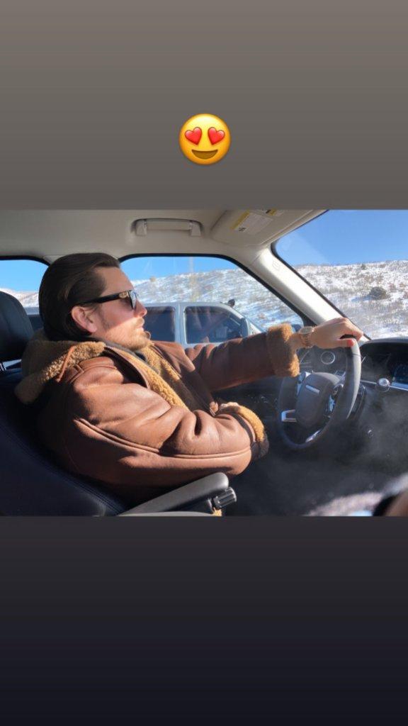 Scott Disick Driving in Aspen