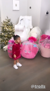 Kylie Jenner With Presents