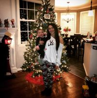 Deena Cortese Celebrates Christmas With Baby