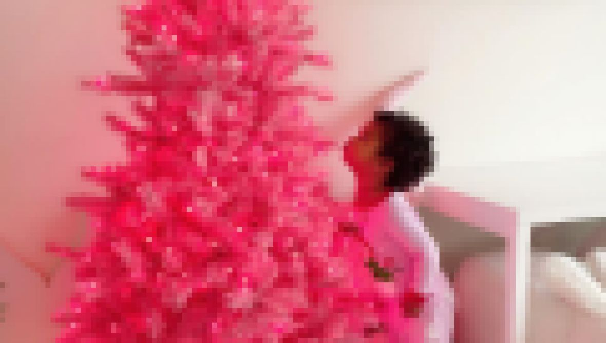 Khloe Kardashian's Daughter True Thompson Enjoys pink Christmas Tree