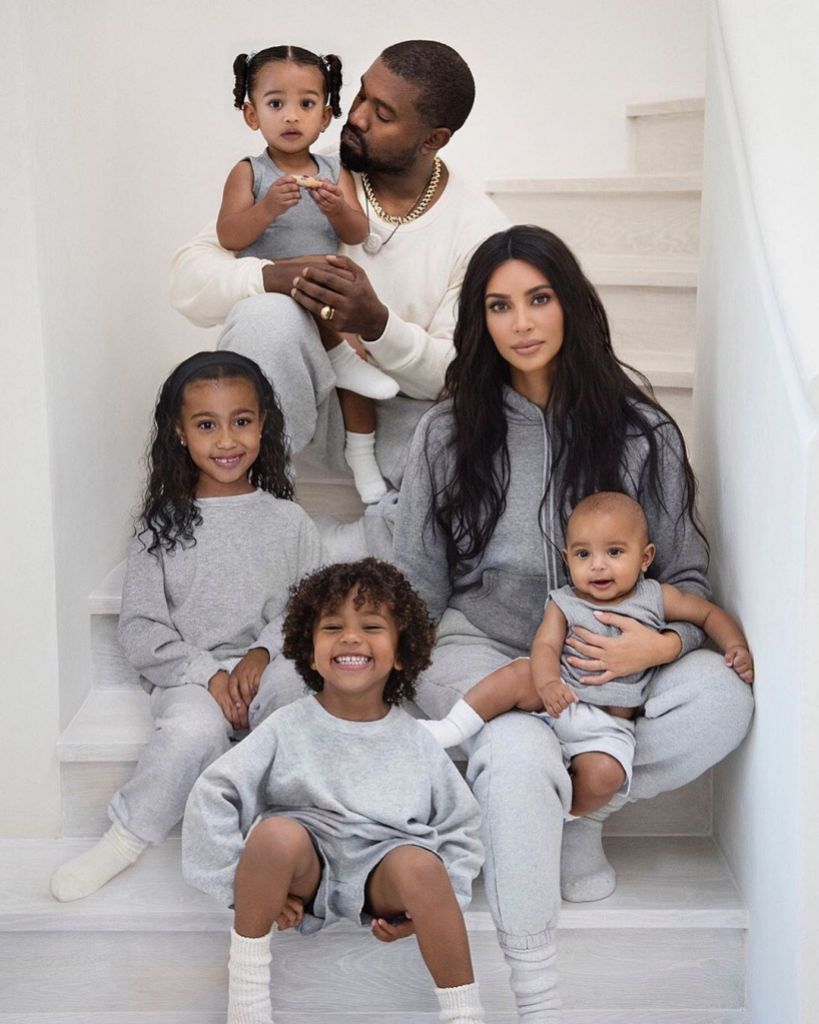 Kim Kardashian and Kanye West Christmas Card With North Saint Chicago and Psalm
