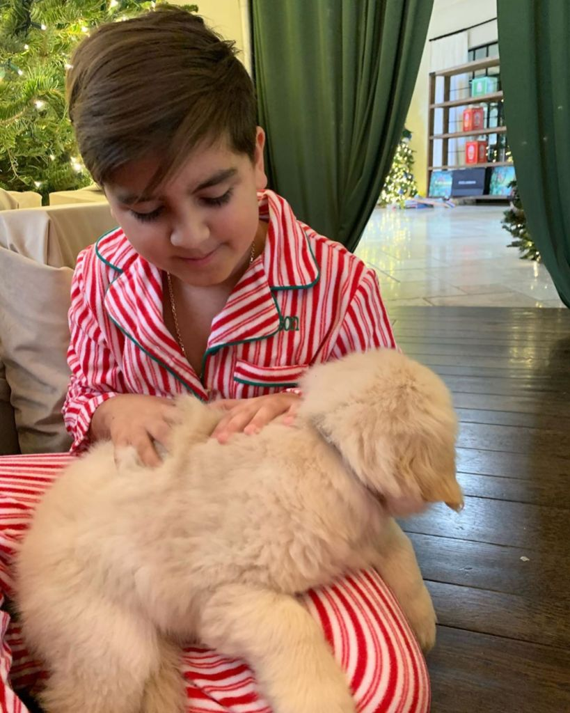 Mason Disick With New Puppy