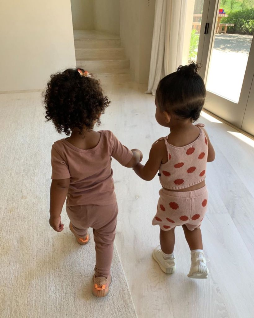 Stormi Webster and Chicago West Hold Hands