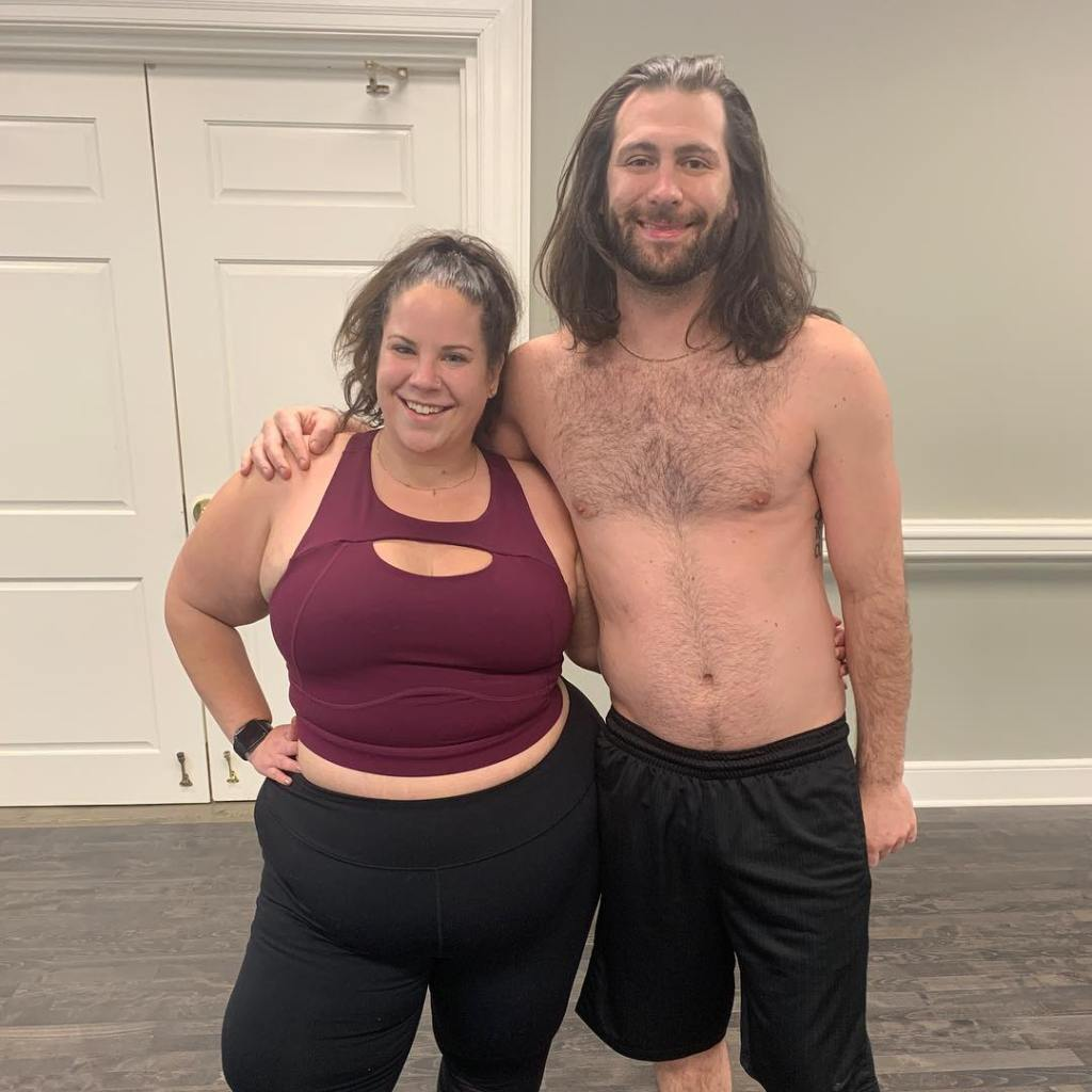 Whitney Way Thore Smiles in Sports Bra and Workout Pants With Ex Fiance Chase