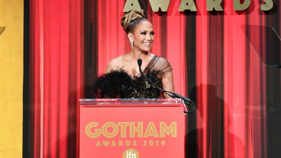 Jennifer Lopez Presenting 29th Annual IFP Gotham Awards, Inside, Cipriani Wall Street, New York, USA - 02 Dec 2019
