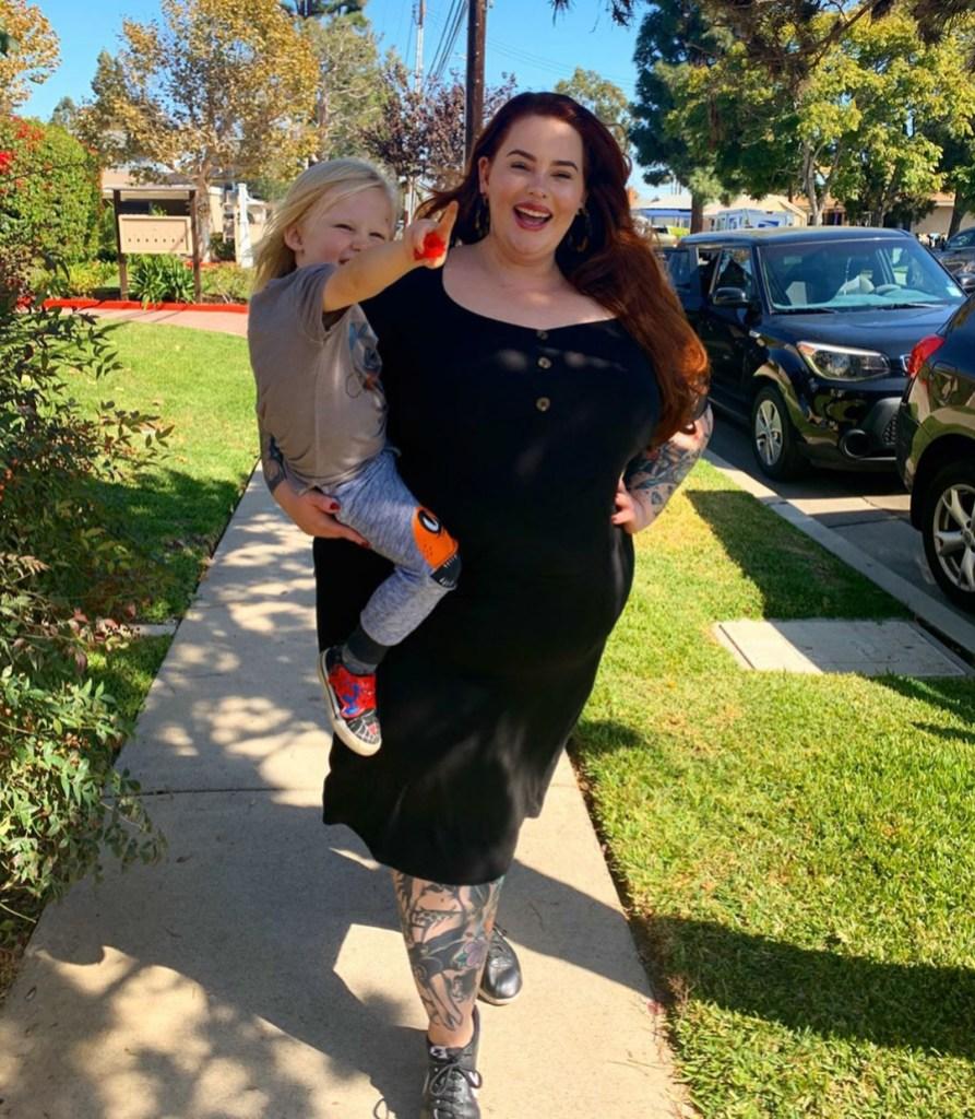 tess holliday fat shame parenting