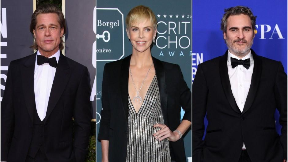 2020 Oscar Nominations Joaquin Phoenix Charlize Theron Brad Pitt