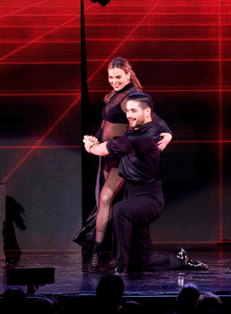 Hannah Brown Lit Up With Alan Bersten on DWTS Tour Performance
