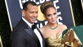 Alex Rodriguez and Jennifer Lope at the 2020 Golden Globes