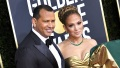 Alex Rodriguez and Jennifer Lopez at the Golden Globes