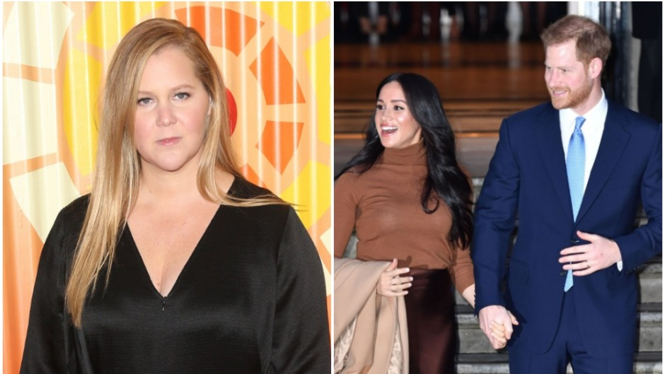 Amy Schumer and Meghan Markle and Prince Harry