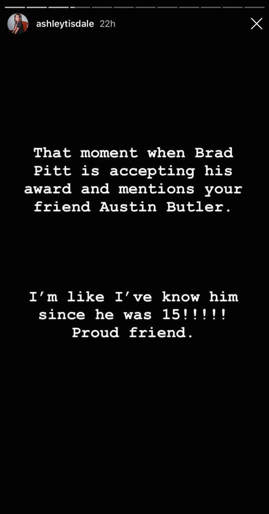 Ashley Tisdale's Instagram Story