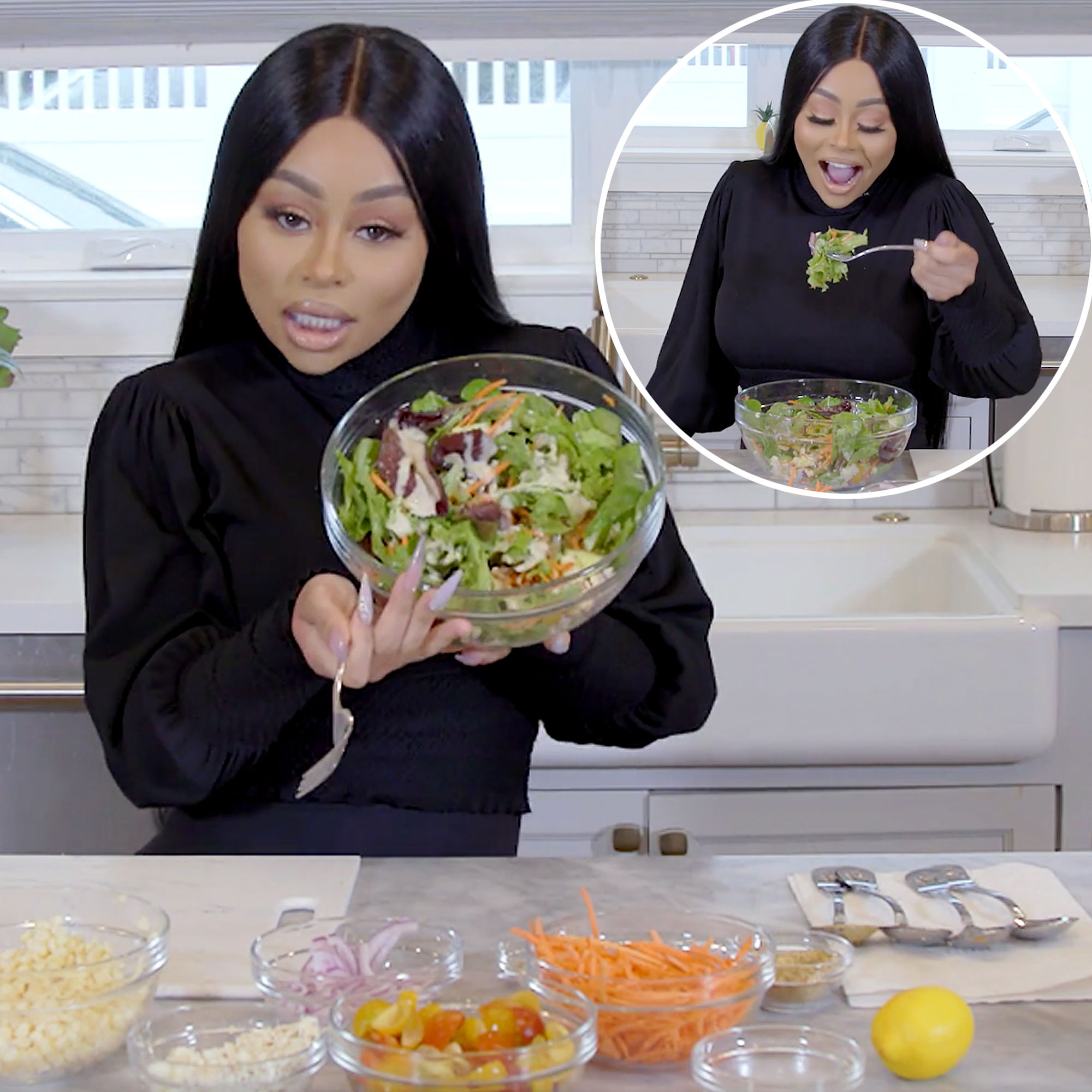 Bon Appétit! Blac Chyna Prepares Her Favorite 'Healthy and Easy' Salad: 'Now That's Perfection!'