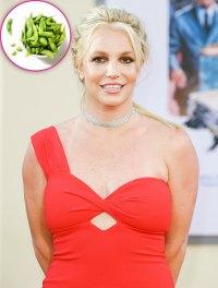 Britney Spears Snacks On Edamame