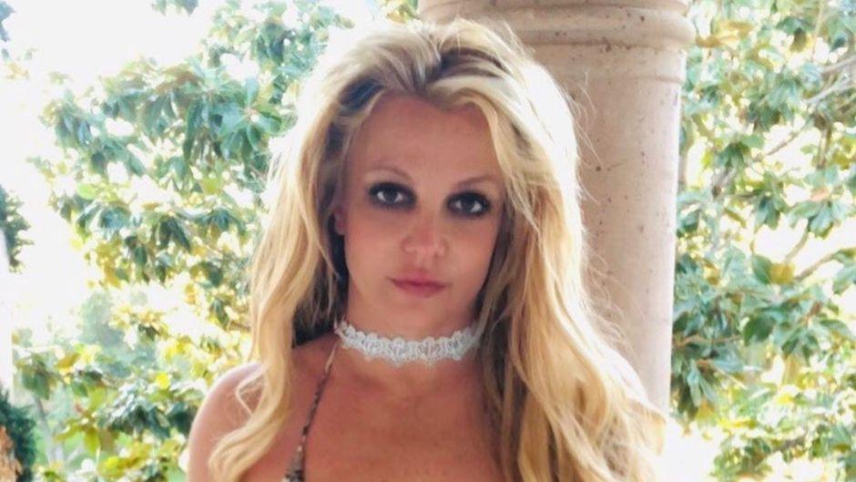 Britney Spears In Snakeskin Bikini