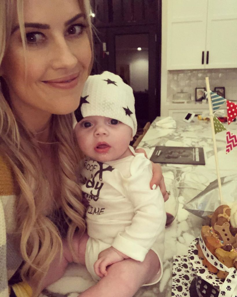 Christina Anstead and Baby Hudson