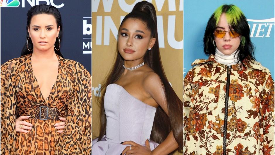 Demi Lovato Ariana Grande Billie Eilish Grammys Performers