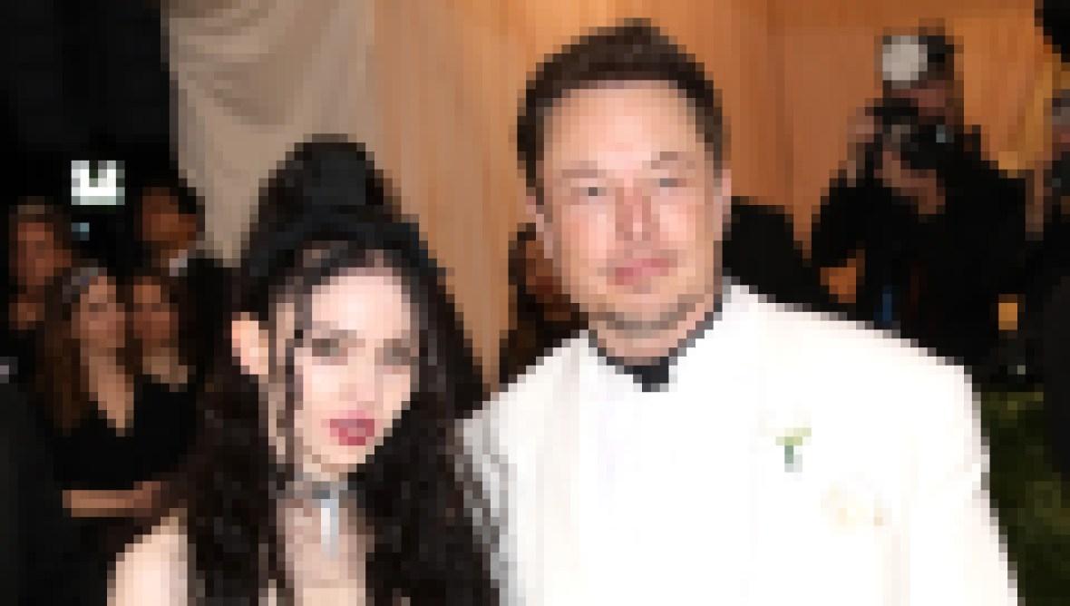 Elon Musk and Grimes at Met Gala