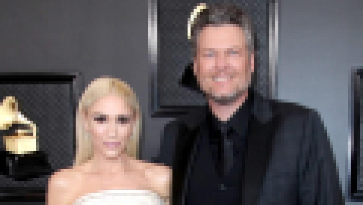 Gwen Stefani and Blake Shelton at the 2020 Grammys