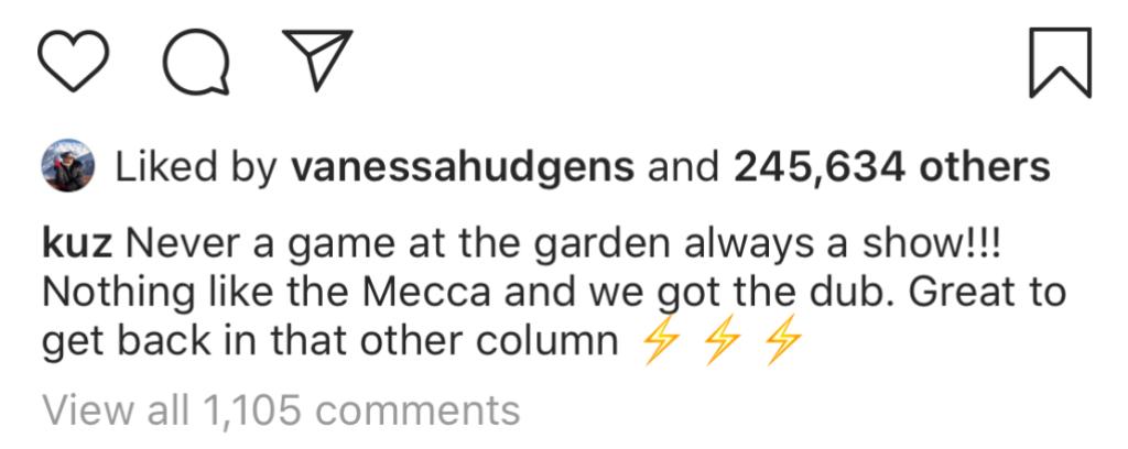 Vanessa Hudgens Likes Kyle Kuzma Instagram