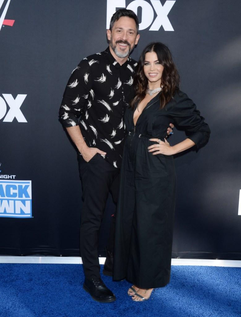 Pregnant Jenna Dewan and Steve Kazee