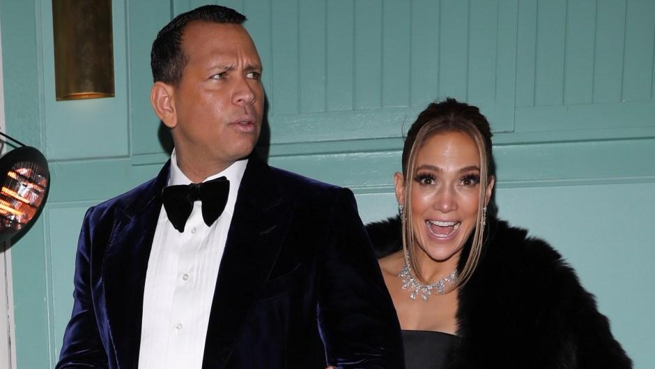 Jennifer Lopez and Alex Rodriguez Walk Arm in Arm Following 2020 SAG Awards