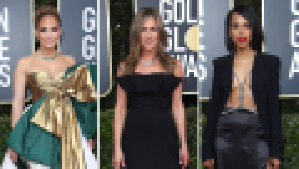 Jennifer Lopez Jennifer Aniston Kerry Washington Golden Globes 2020 red carpet