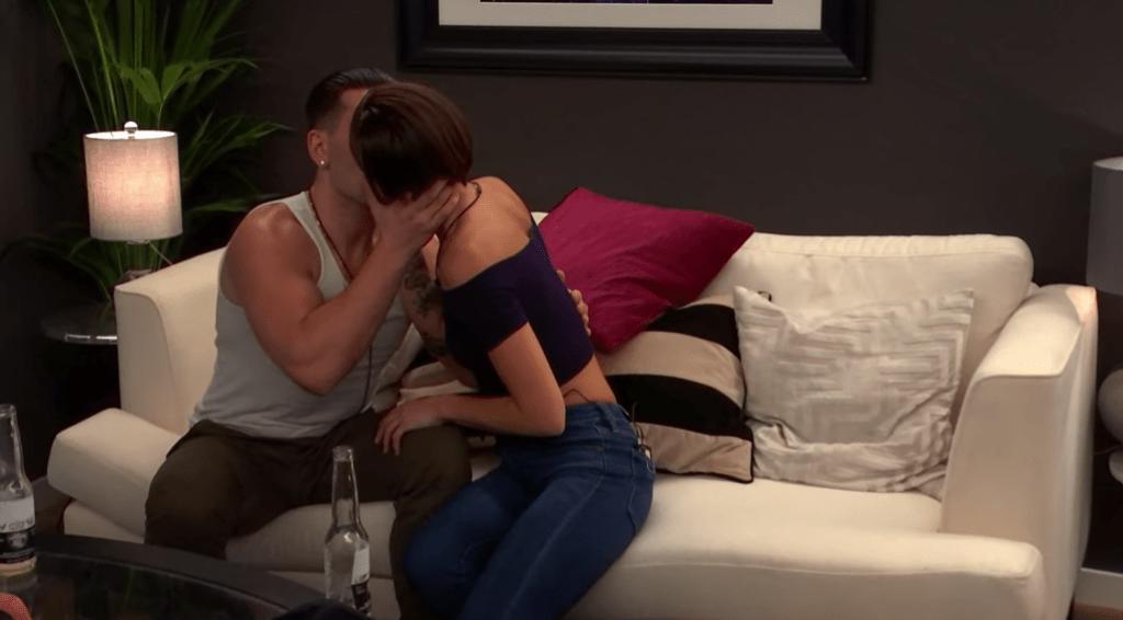 Joey and Miranda Kiss on The Circle