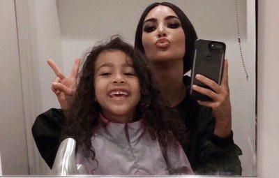 Kim Kardashian and Daughter North West Snap a Selfie