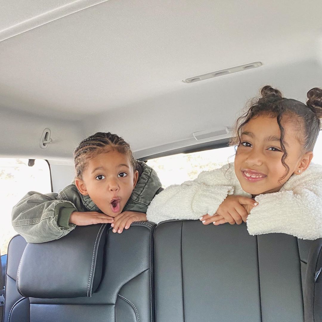 Kim Kardashian Reveals Kids North and Saint 'Get Along Now' With Adorable Photo