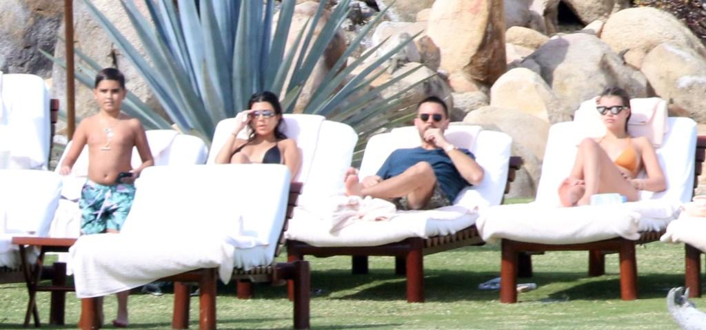 Kourtney Kardashian, Scott Disick, Sofia Richie and Mason Disick Sunning in Mexico