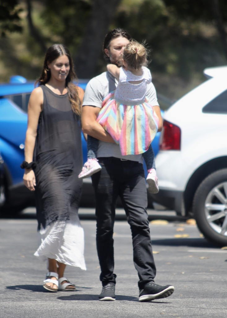 Brandon Jenner With Pregnant Cayley Stokes and Eva James