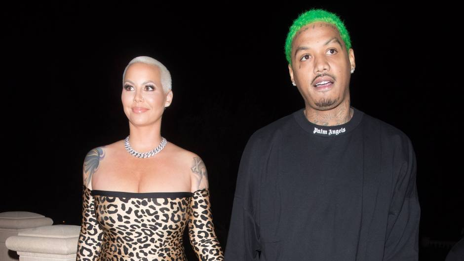 Amber Rose and Alexander Edwards at The Weeknd's NYE Party