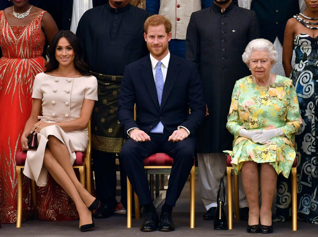 Queen Elizabeth Sitting Down With Harry and Meghan