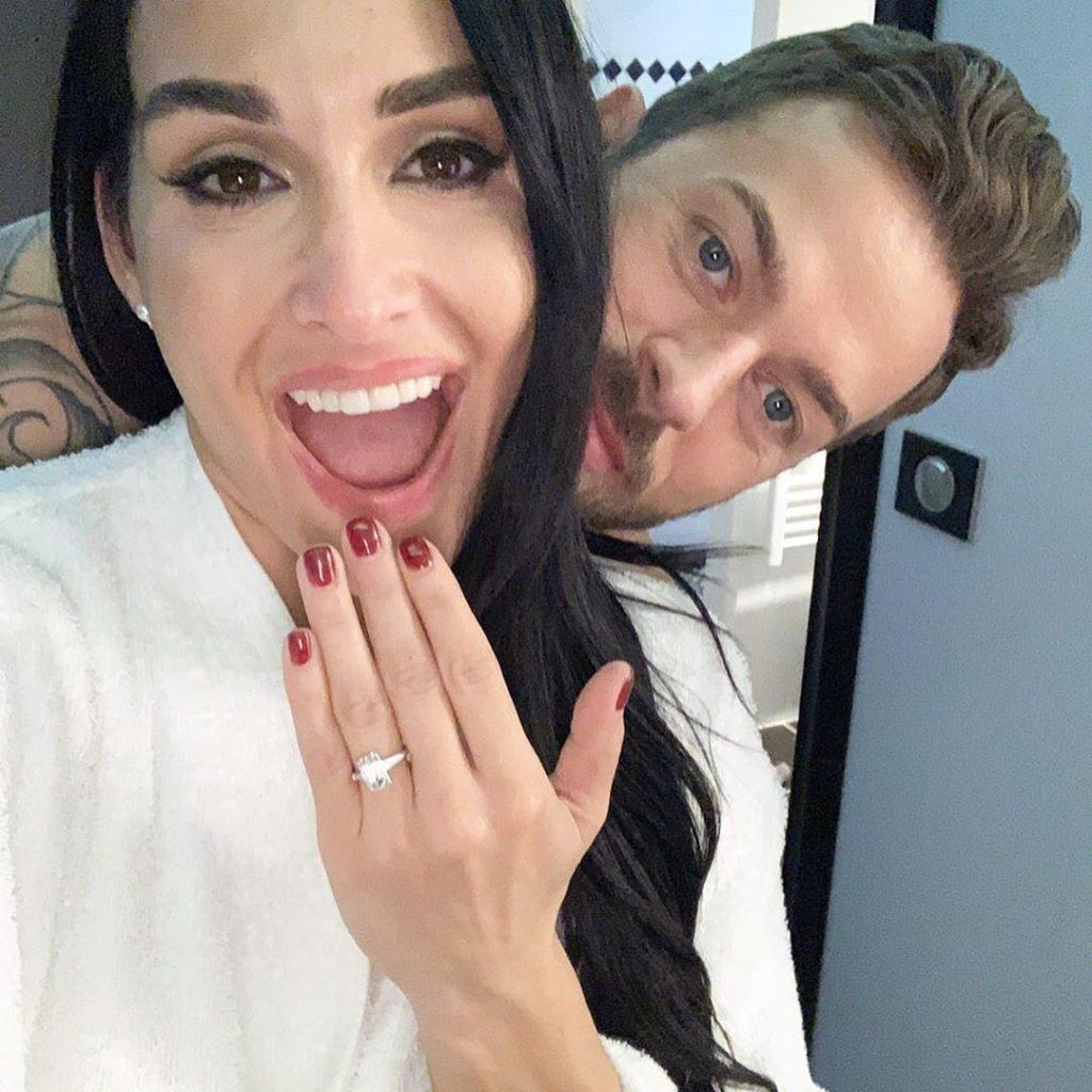 Nikki Bella and Artem Chigvintsev Engagement Selfie