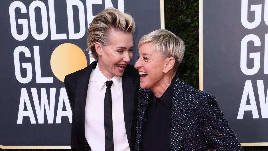 Portia de Rossi and Ellen DeGeneres 77th Annual Golden Globe Awards