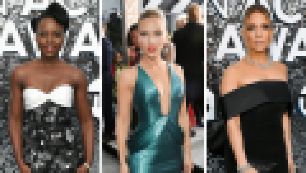 SAG Awards Red Carpet Lupita Jennifer Lopez Scarlett