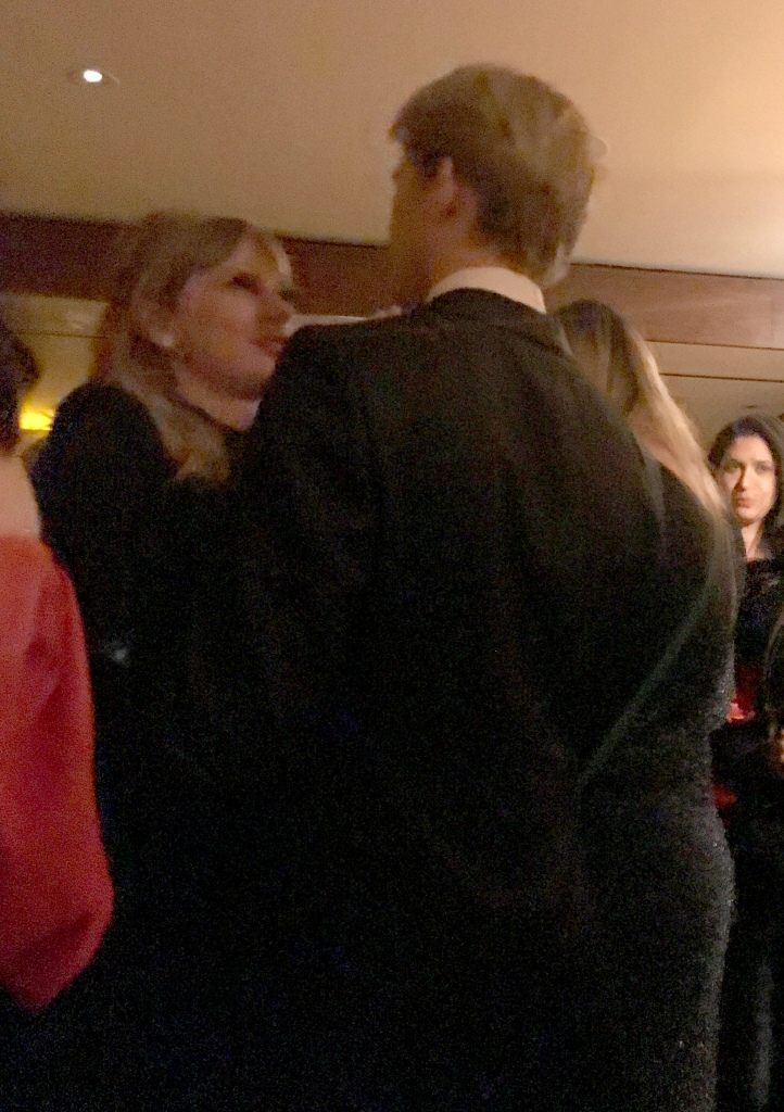 Taylor Swift gets intimate with long-term boyfriend Joe Alwyn at the CAA party at Sunset Tower in Los Angeles following the Golden Globes on Sunday night