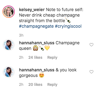 Hannah Ann and Kelsey Joke About Champagne Gate on The Bachelor