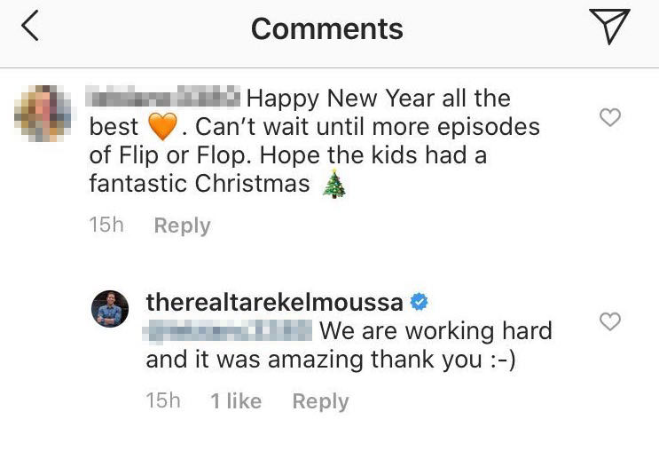 Tarek El Moussa's Instagram Comments
