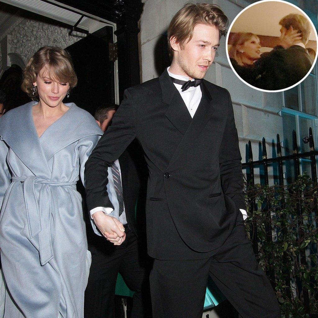 Taylor Swift Joe Alwyn Show Rare PDA Golden Globes Afterparty