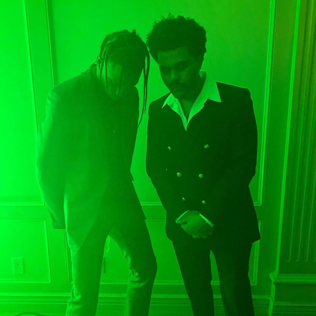 Travis Scott and The Weeknd Celebrating New Year's Eve