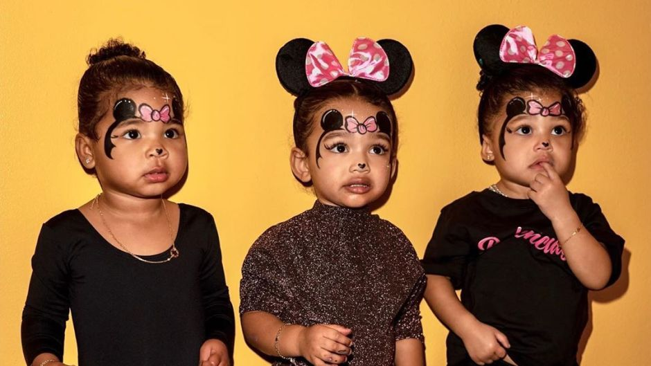 True Thompson, Chicago West and Stormi Webster