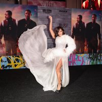Vanessa Hudgens Slays in a White Gown at the 'Bad Boys for Life' Premiere