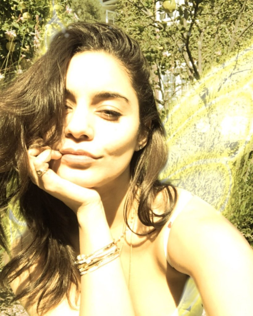 Vanessa Hudgens Taking a Selfie in California
