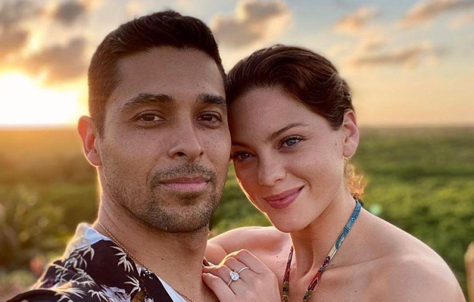 Wilmer Valderrama and fiancee Amanda Pacheco