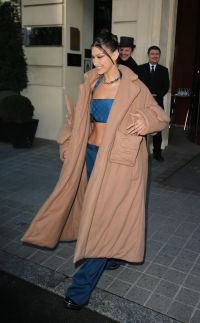 Bella Hadid in Louis Vuitton for Paris Fashion Week