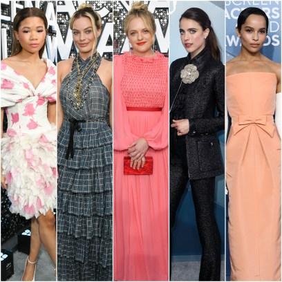 Storm Reid, Margot Robbie, Elisabeth Moss, Margaret Qualley, Zoe Kravitz Best Worst Dressed SAG Awards 2020
