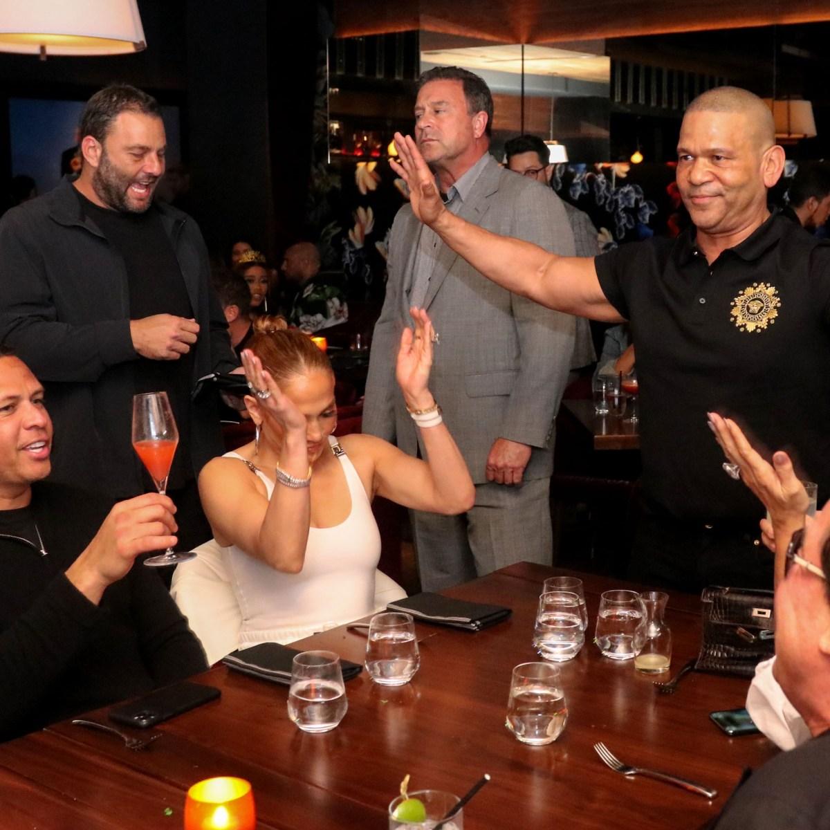 Jennifer Lopez and Fiance Alex Rodriguez Spotted Getting Cozy Celebrating Friend's Birthday in Miami